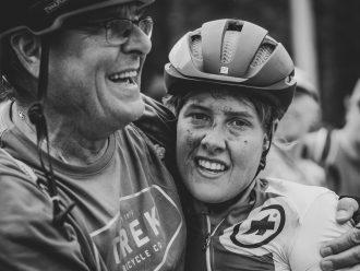 E-Bike Weltmeisterin Nathalie Schneitter, E-Mountainbike WM Canada, auf einem Trek Rail