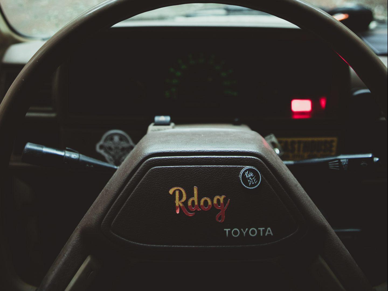Ryan's R-Dog steering wheel