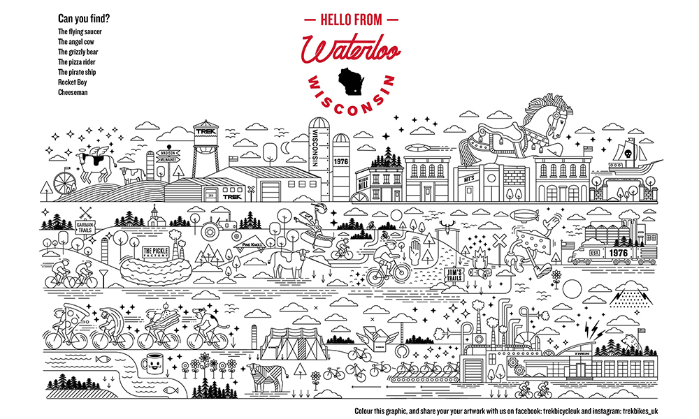 Waterloo with love colouring in