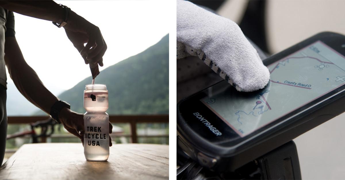 Trek Water Bottle & Bontrager Garmin