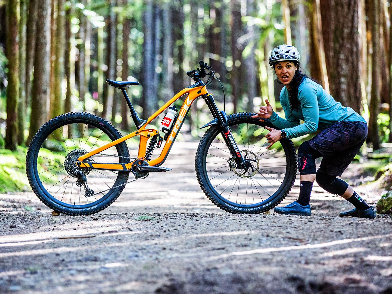 Christina Chappetta posing next to her bike
