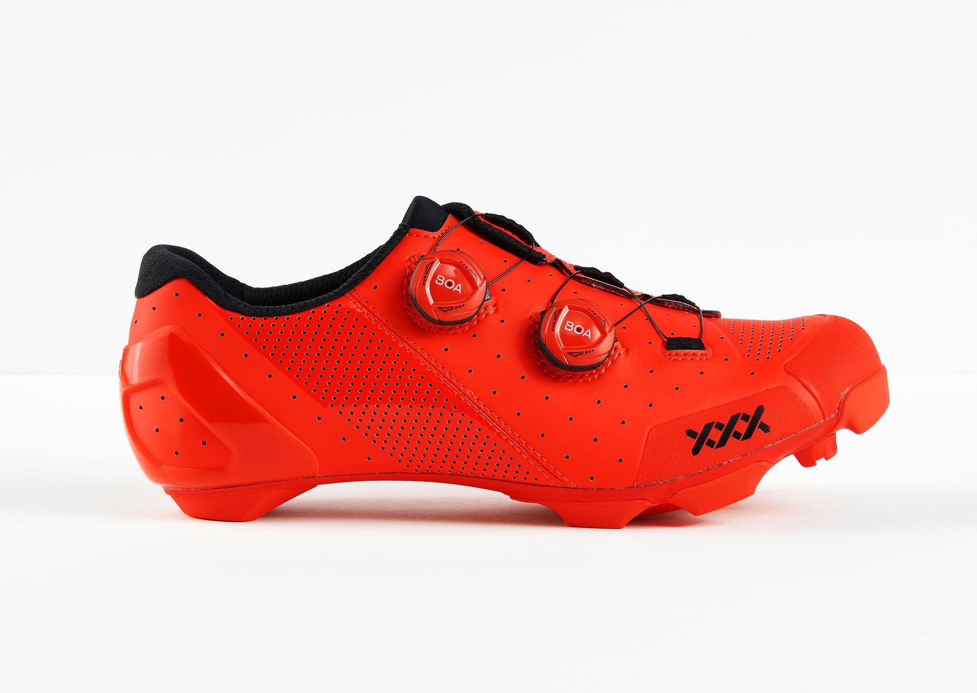 Red Triple-X mountain biking shoes