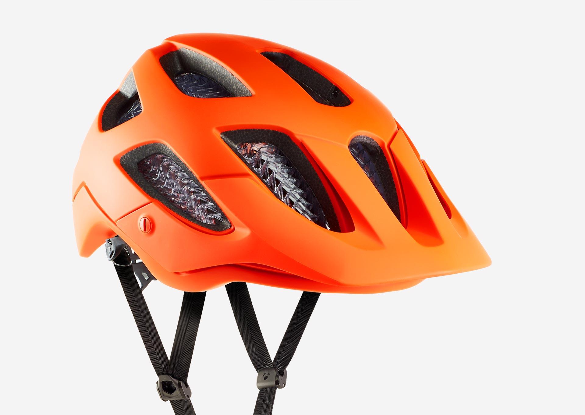 Orange Bontrager Blaze WaveCel Helmet