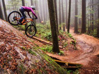 Christina Chappetta on a wet descent