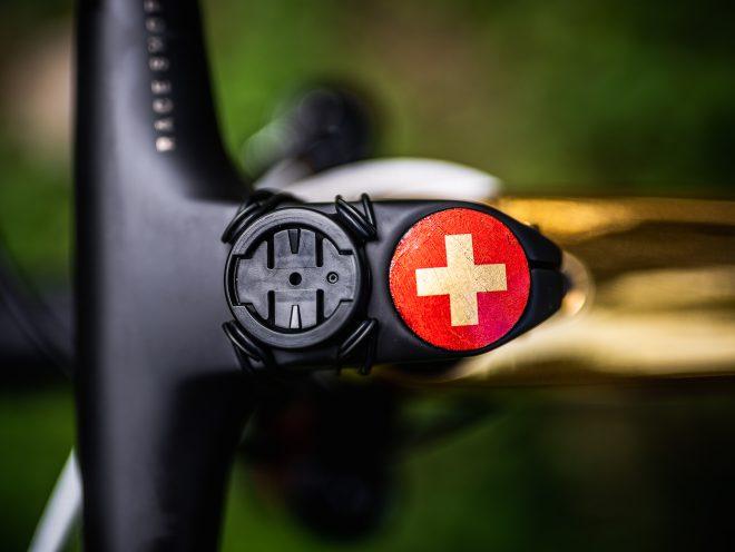 Swiss national flag stem cap